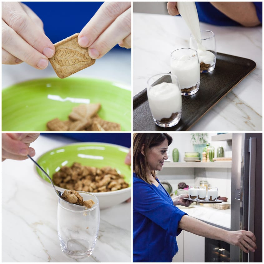 mousse yogurt con biscotti e cereali