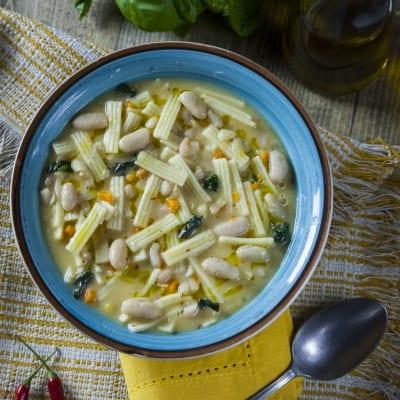 Sagne e fagioli (pasta e fagioli molisana)