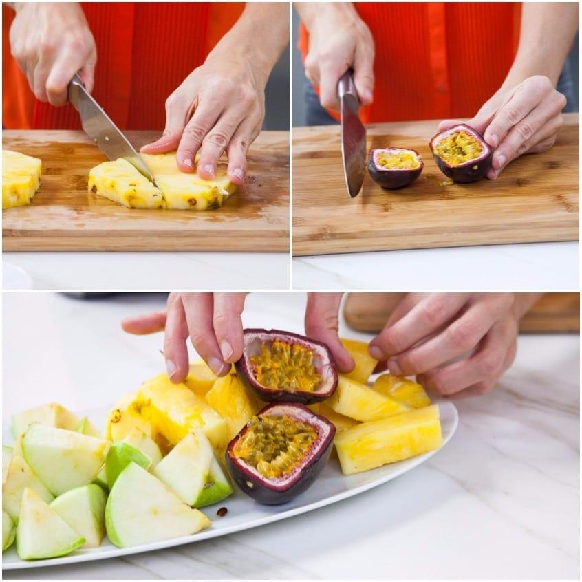 succo di mela e ananas