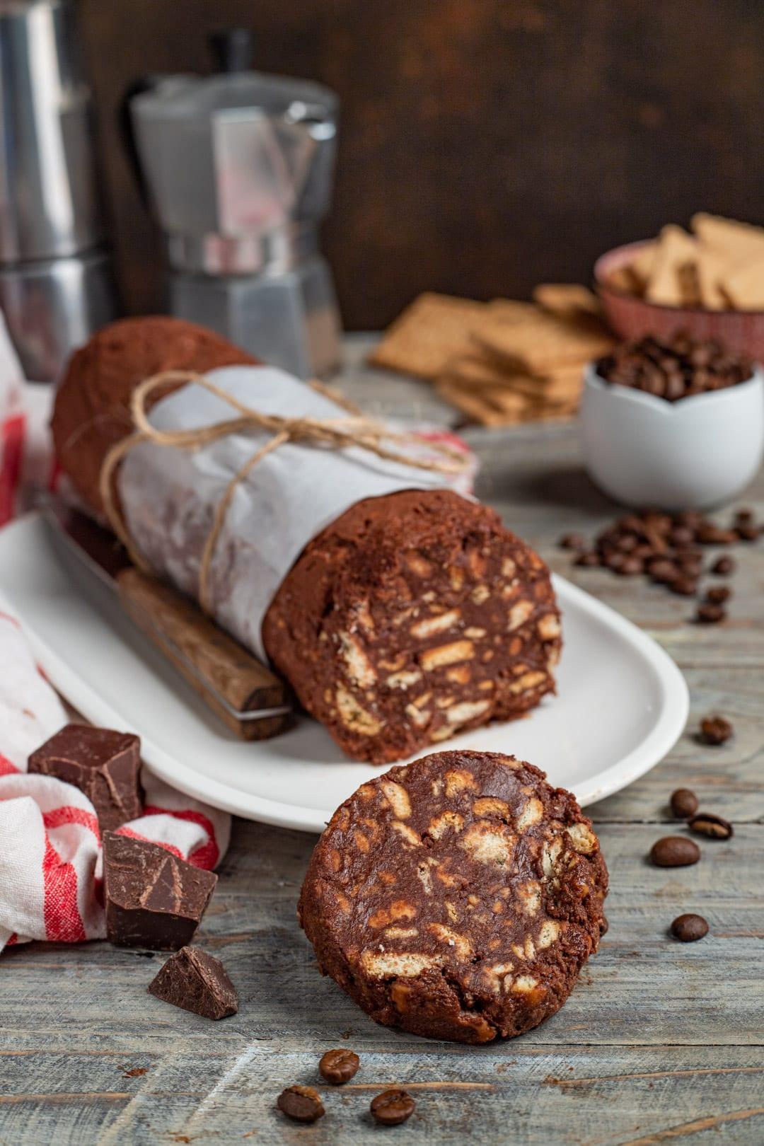Ricetta Torta Salame Al Cioccolato.Salame Di Cioccolato E Caffe La Versione Al Caffe Di Un Delizioso Classico