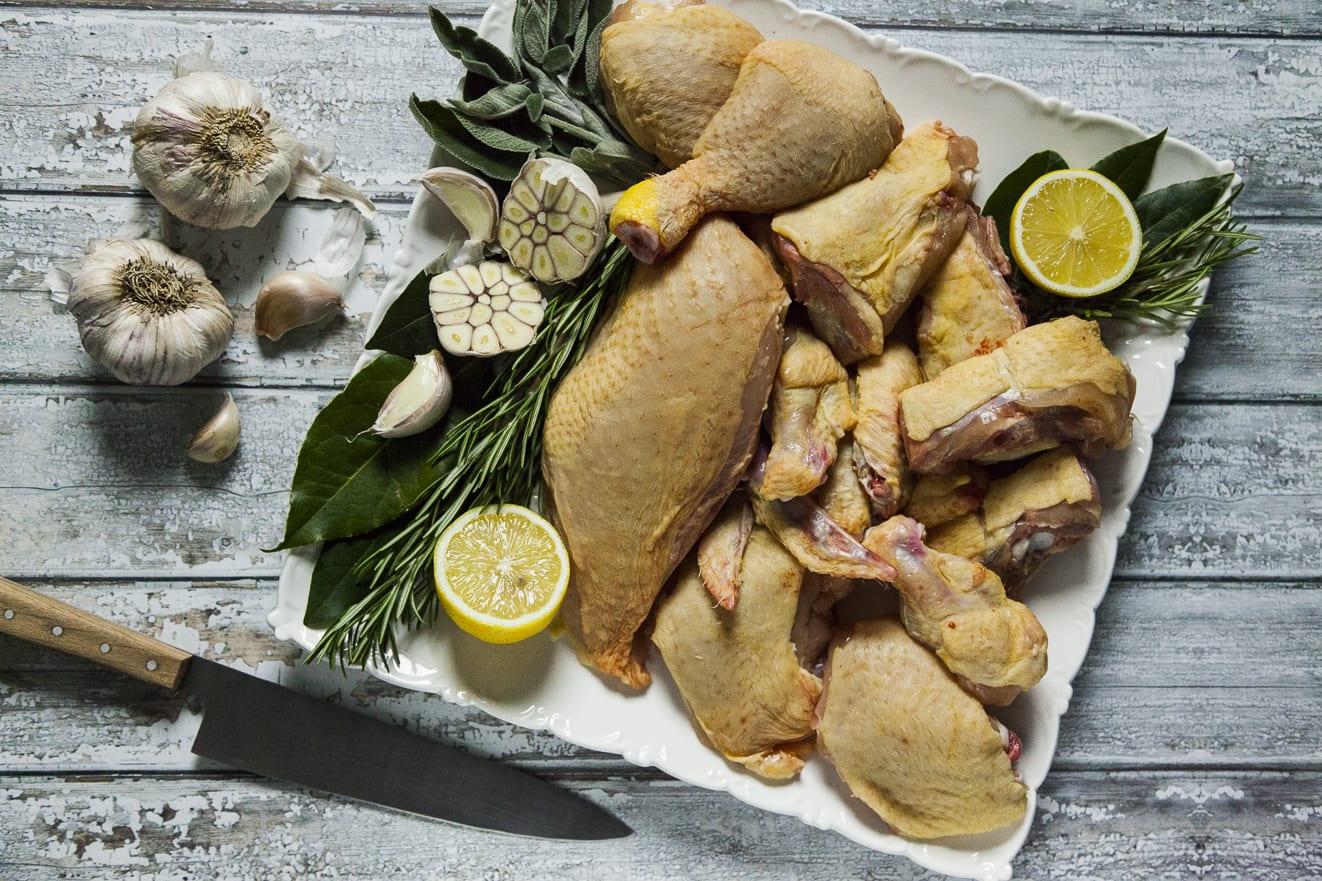Come dividere il pollo intero