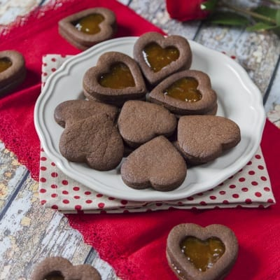 Biscotti di San Valentino al cacao