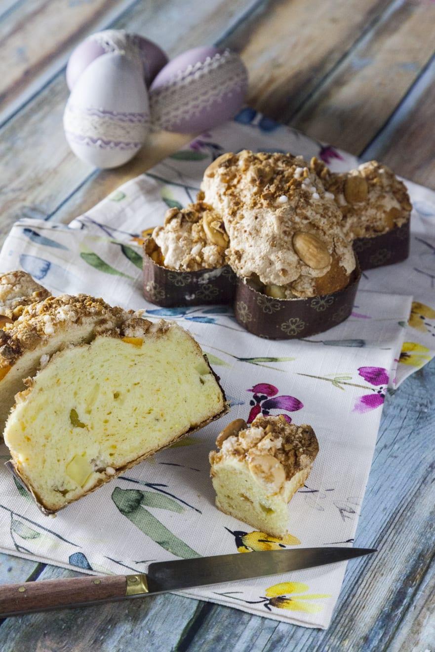 Colombine senza glutine e senza lattosio di Pasqua mini con mandorle nocciole e zuccherini pasquali