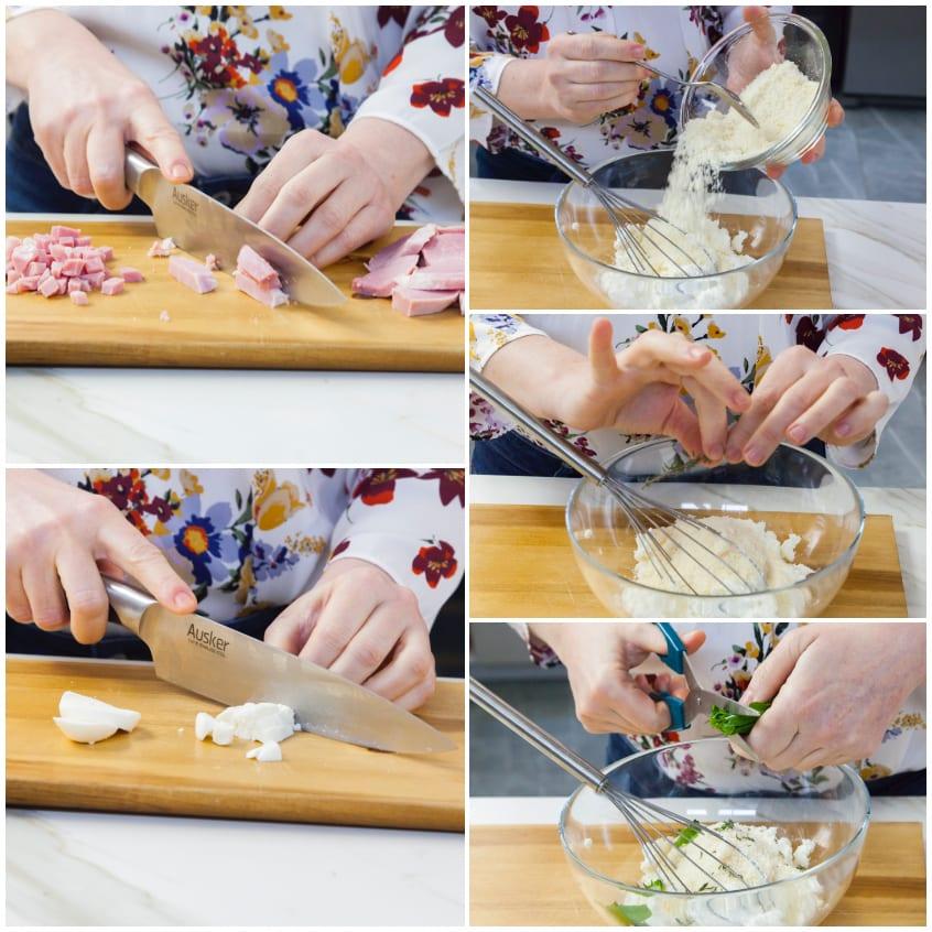 Crep con prosciutto e mozzarella
