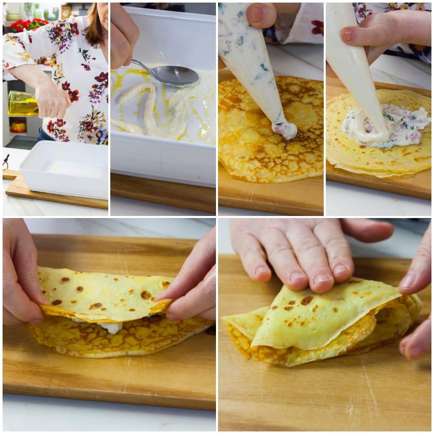 Crespelle con prosciutto e mozzarella ricetta semplice