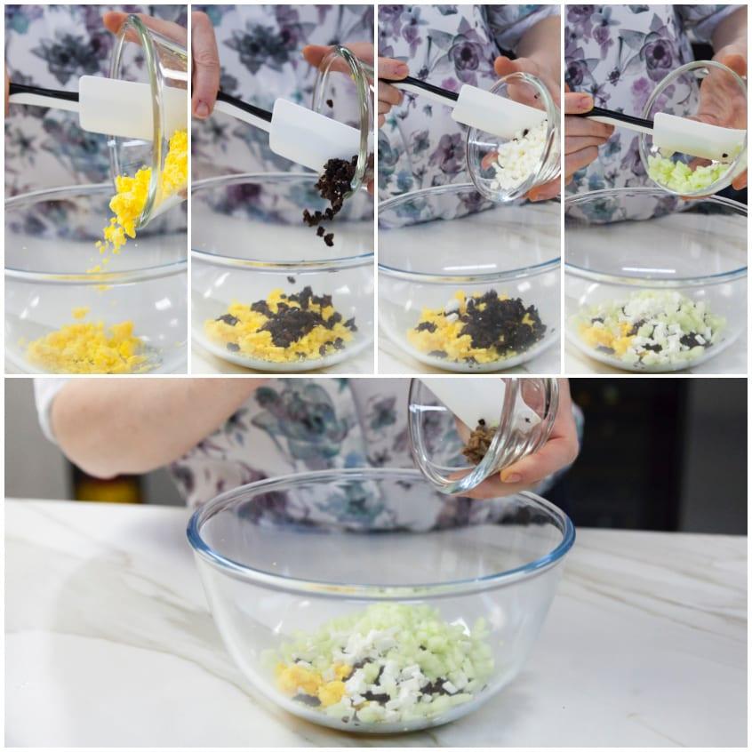 uova ripiene olive nere