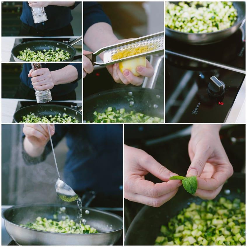 ricetta veloce pasta zucchine limone