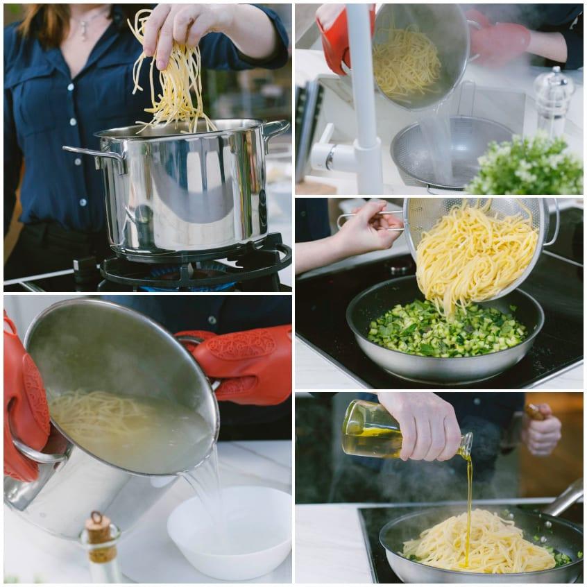 tagliolini zucchine limone menta