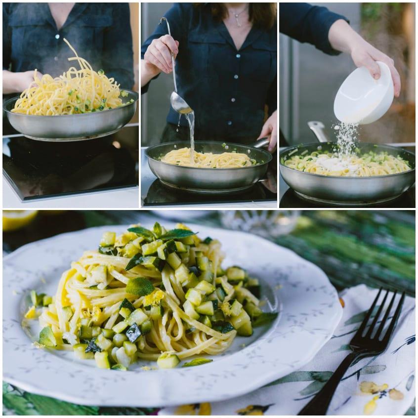 pasta zucchini limone menta