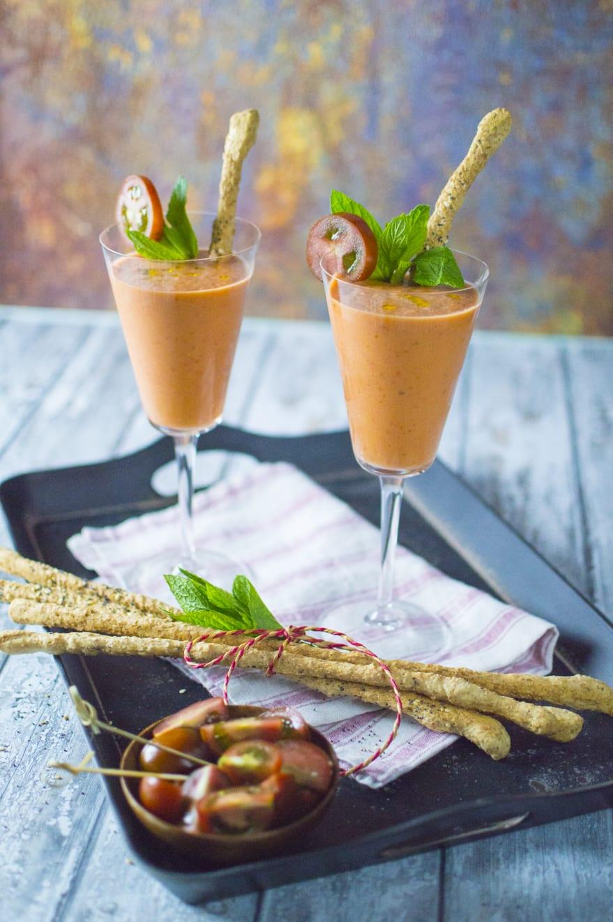 Gazpacho con fragole