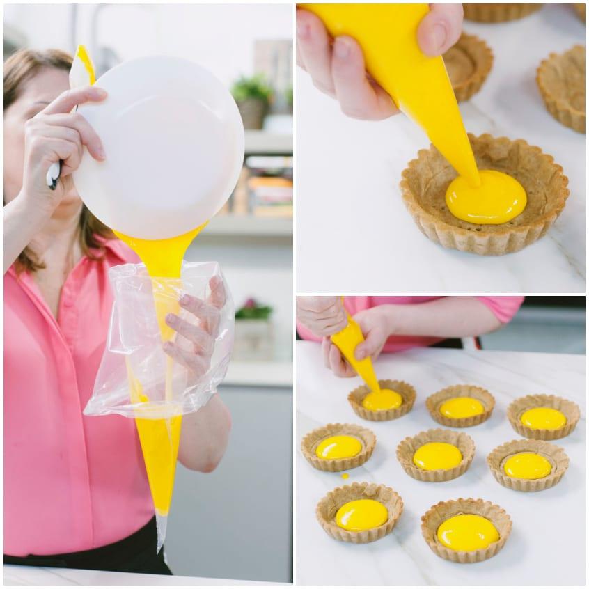 crostata crema zafferano e ananas