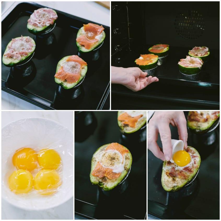 avocado ripieno al forno