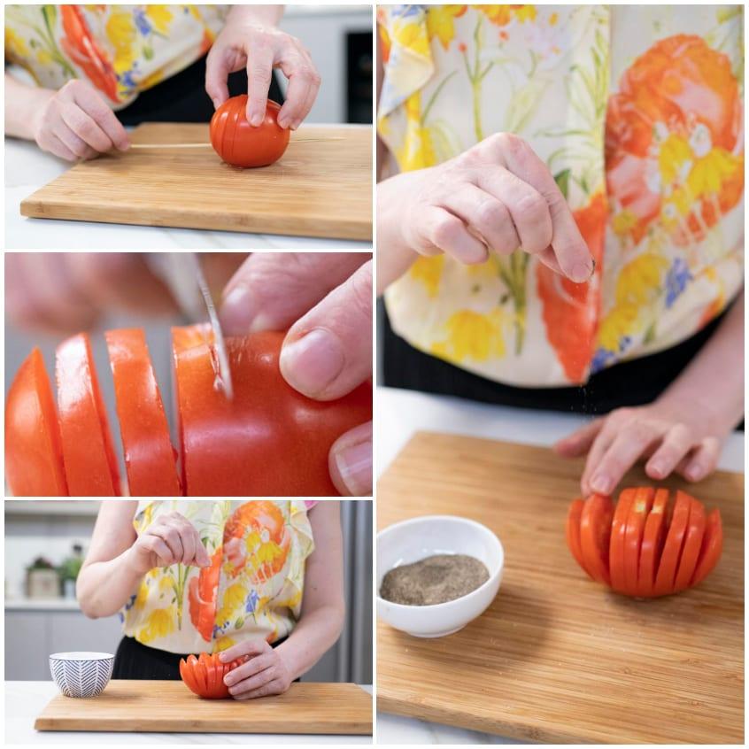 pomodori hasselback