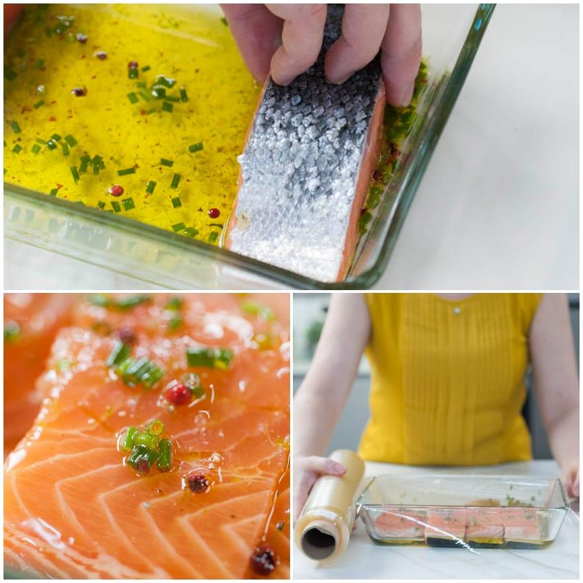 Salmone alla griglia con riso