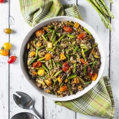 Insalata di farro e verdure arrostite