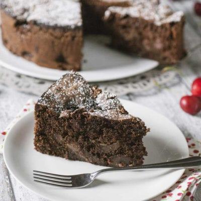 Torta al cioccolato e ciliegie senza glutine