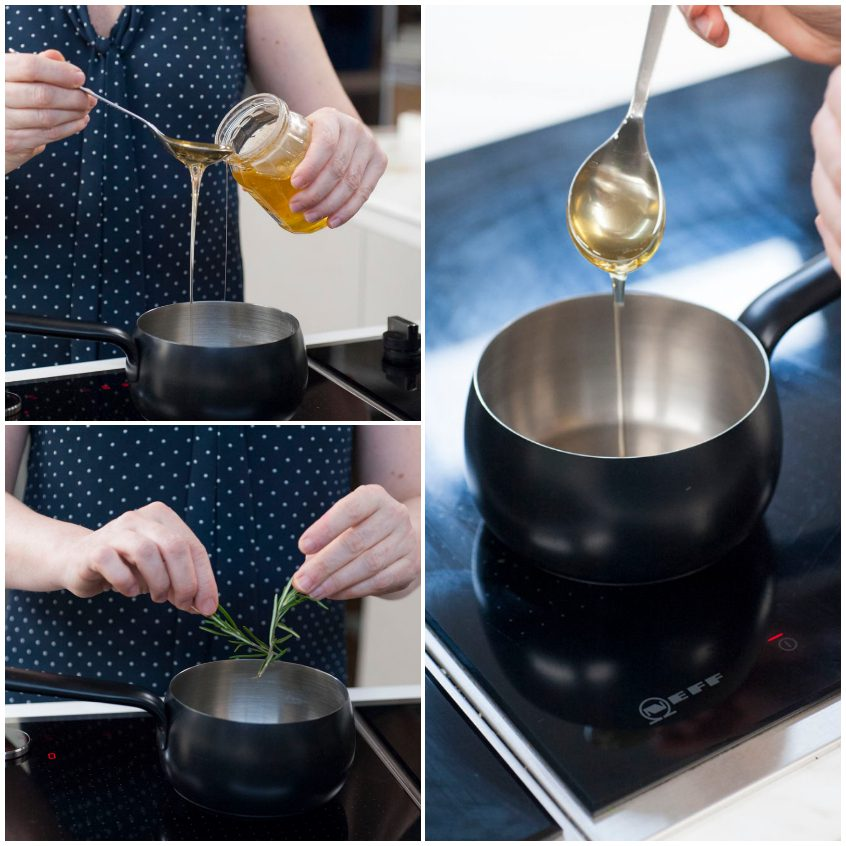 Ananas grigliato con cannella e miele