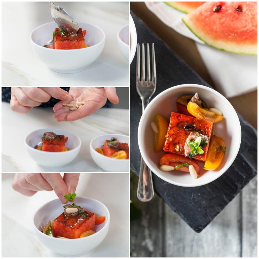anguria grigliata in insalata