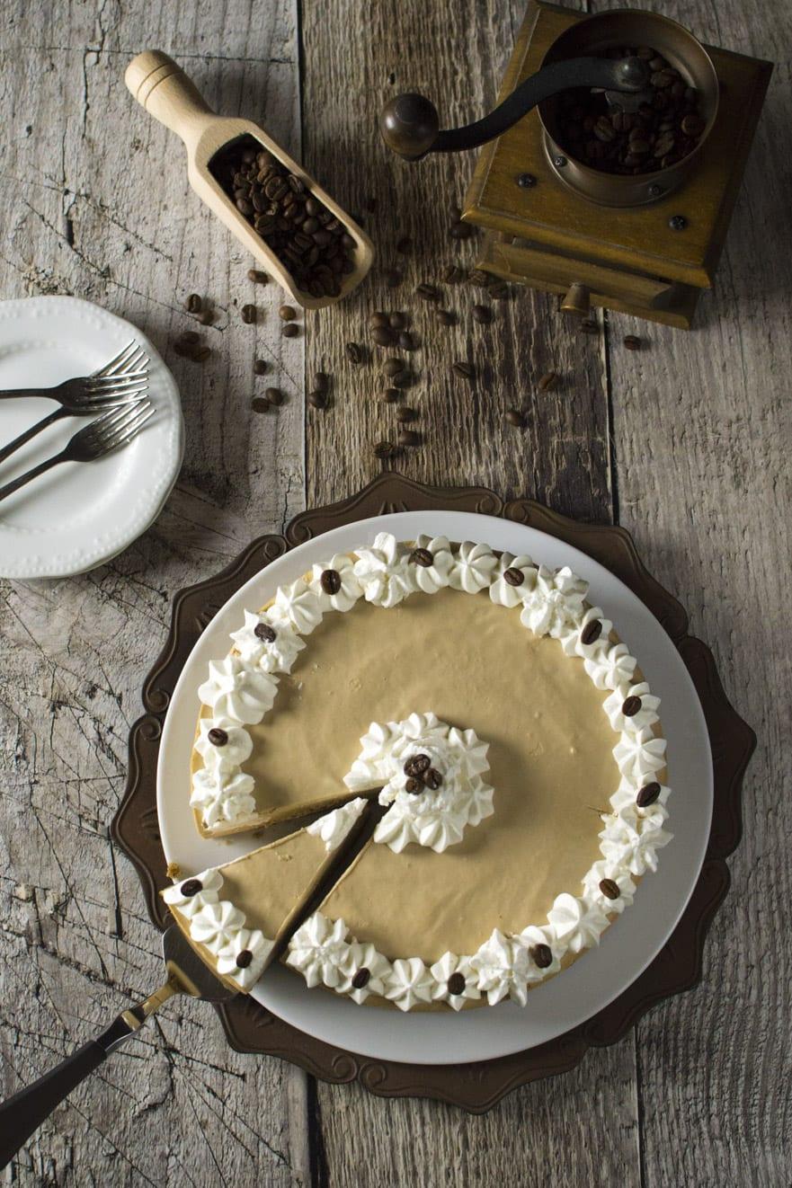 cheesecake al caffè espresso