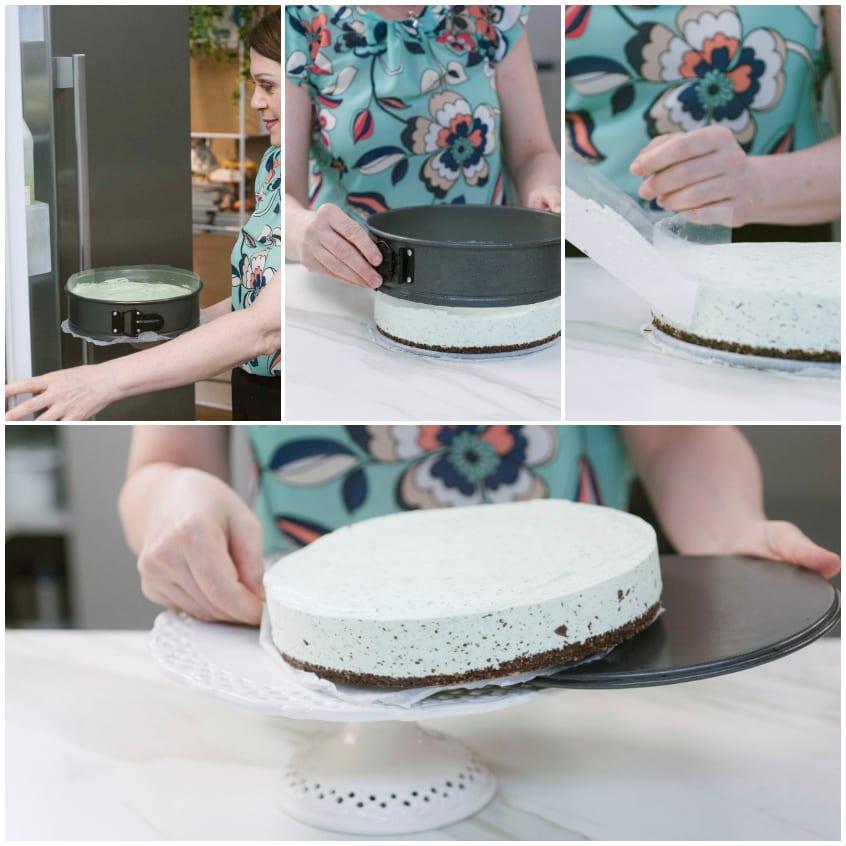 cheesecake ciocco menta
