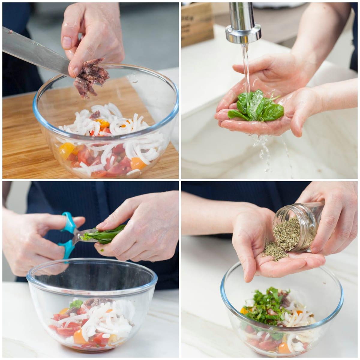 mozzarella verdure miste