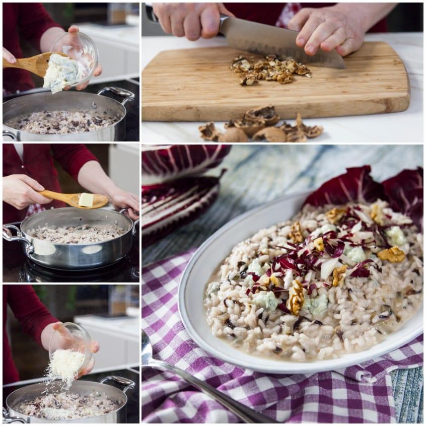risotto radicchio gorgonzola