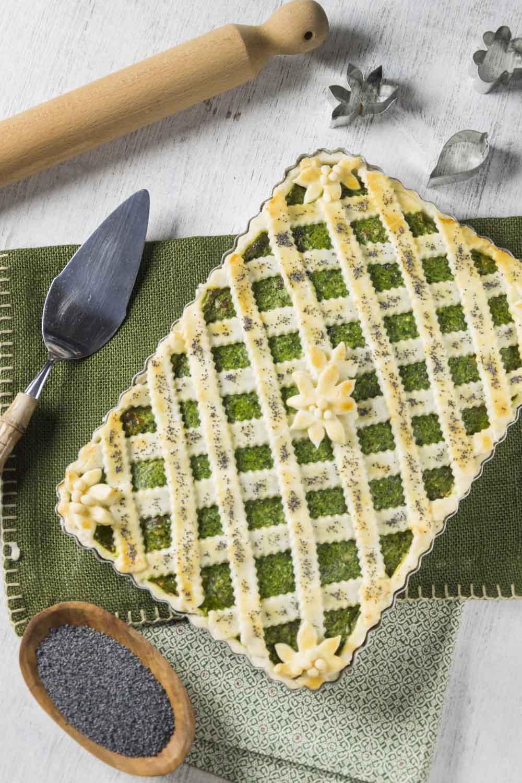 Crostata senza glutine con ricotta e spinacii