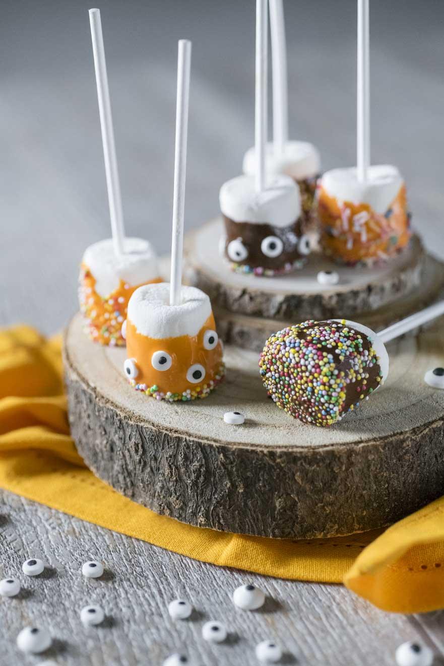 Marshmallow pops di Halloween