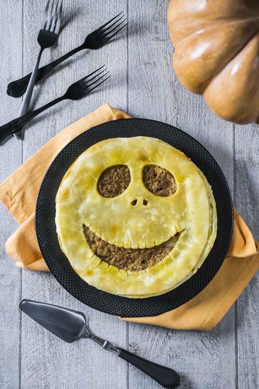 Pie salata senza glutine pronta per Halloween