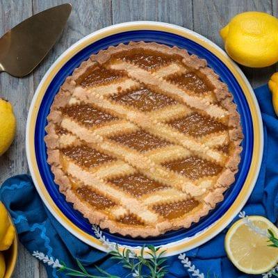 Crostata con marmellata di limoni