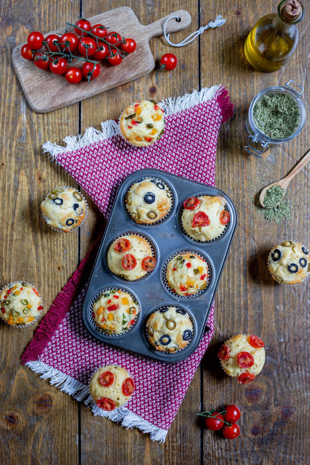 Muffin alle verdure pronti all'assaggio