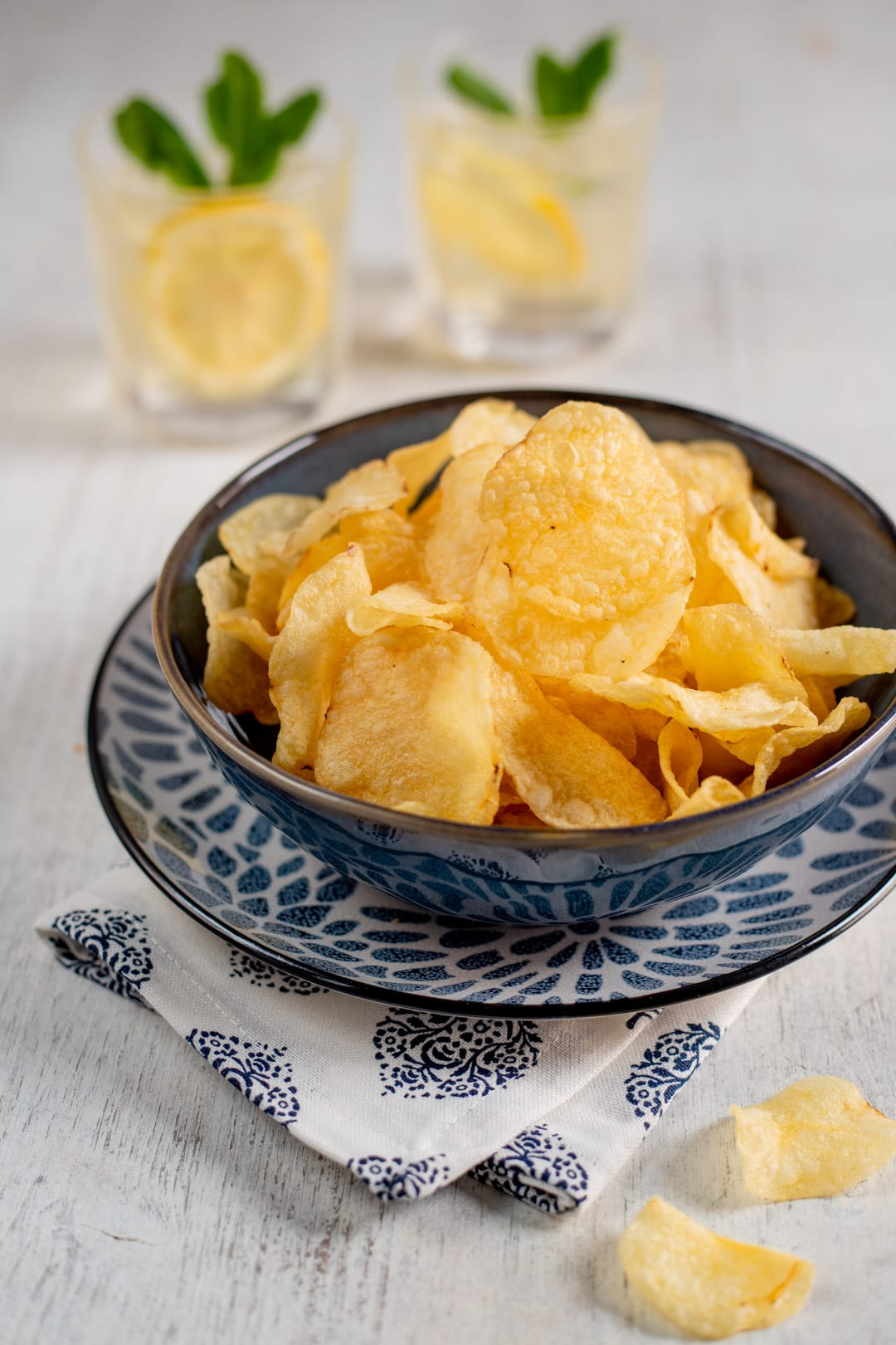 Chips di patate pronte all'assaggio