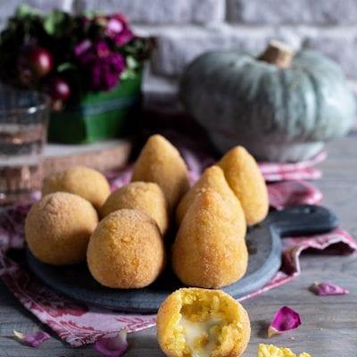 Arancini di zucca con Taleggio e gorgonzola