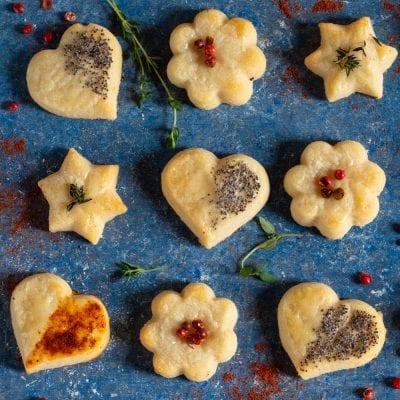 Frollini al parmigiano pronti da gustare