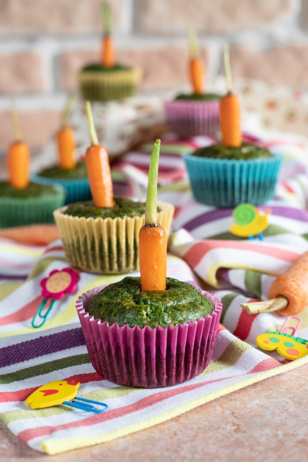 Cupcakes spinaci e carotine
