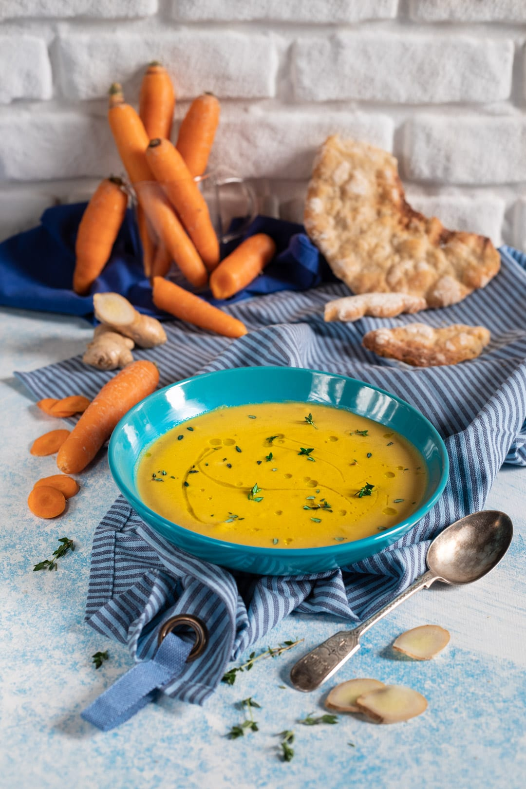 Vellutata carote e zenzero pronta da gustare