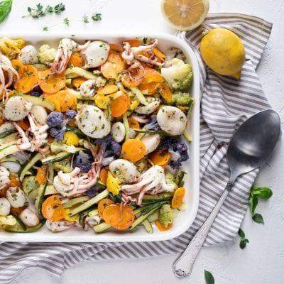 Moscardini con verdure