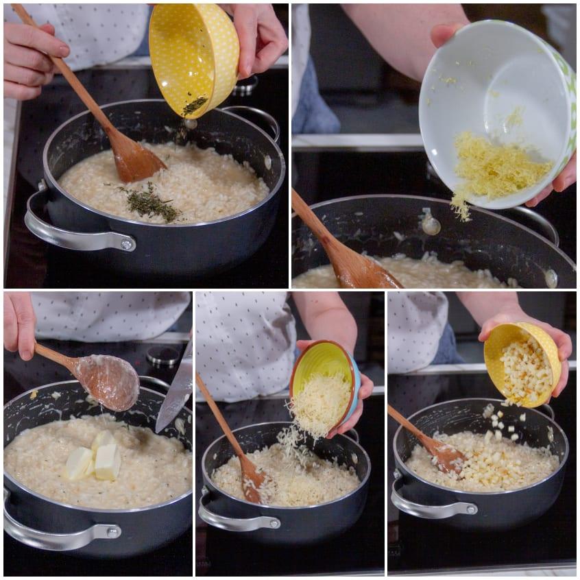 Risotto al limone, rosmarino e provola affumicata mantecatura