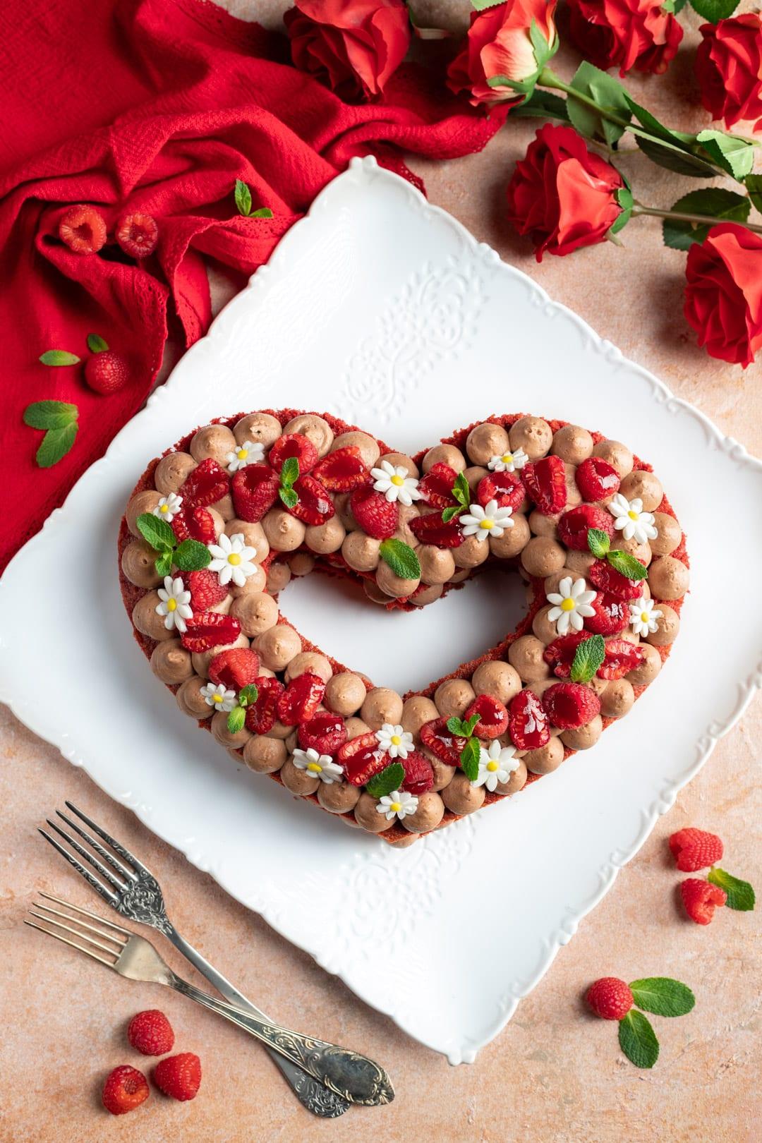 Torta a forma di cuore perfetta per San Valentino