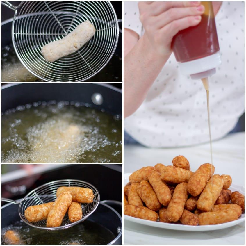 Crispelle dorate fritte