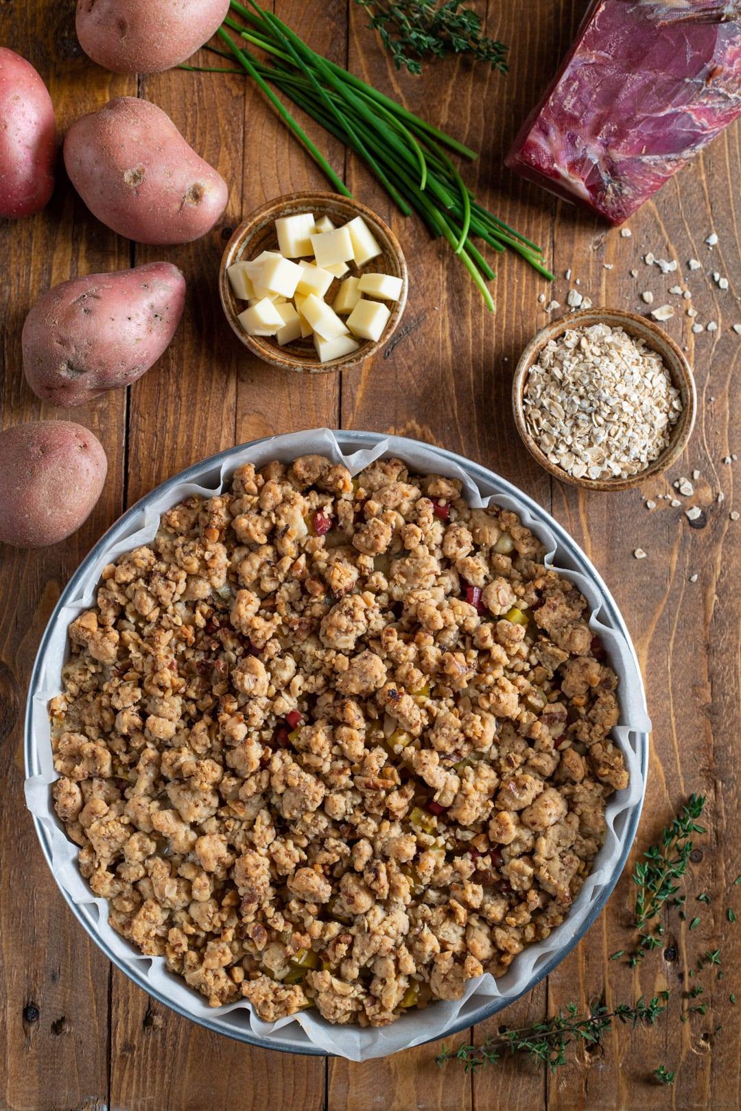 Sbriciolata patate e speck