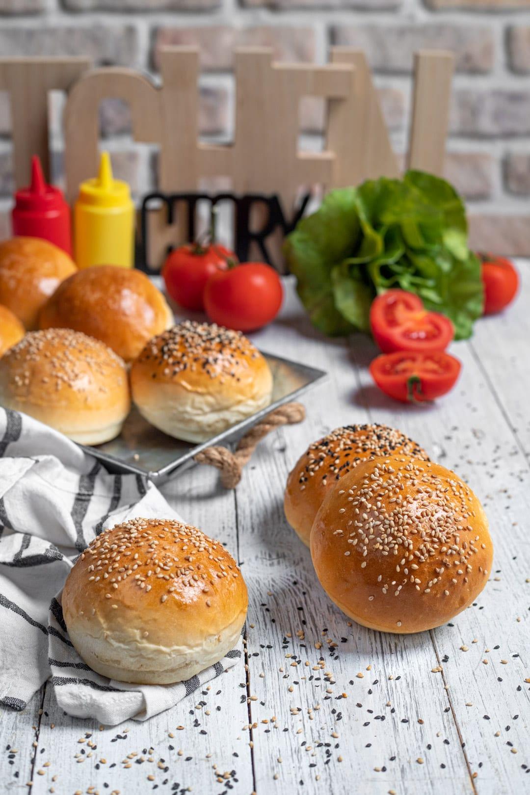Panini per hamburger - burger buns