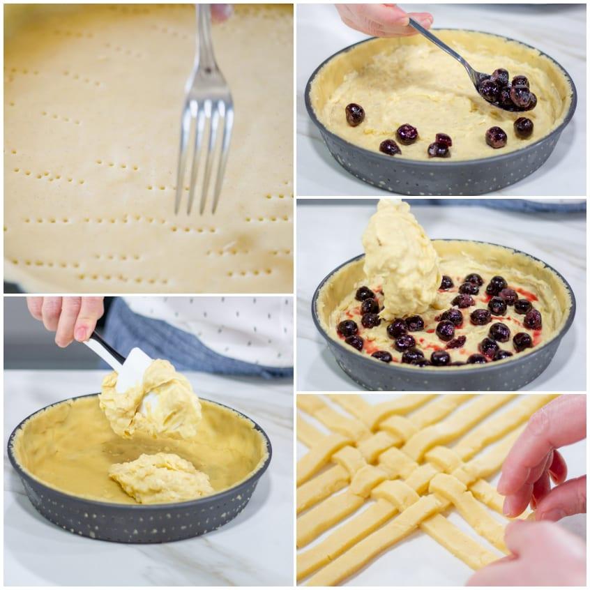 Crostata con riso losanghe