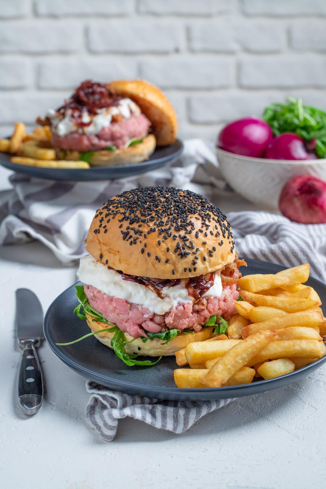Hamburger di tartare di vitello