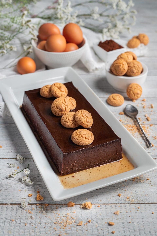 Budino al cioccolato e amaretti