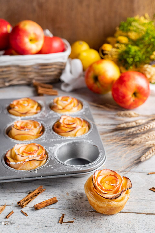 roselline di mele in teglia