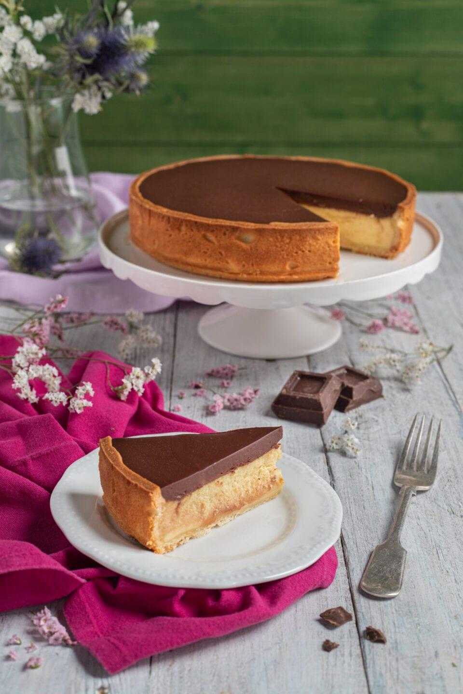 crostata ricotta e ganache al cioccolato