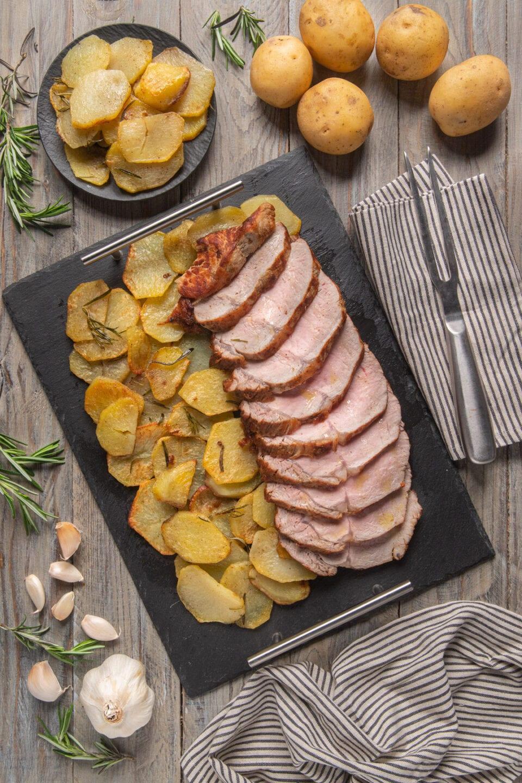 piatto di lombata di vitello con patate