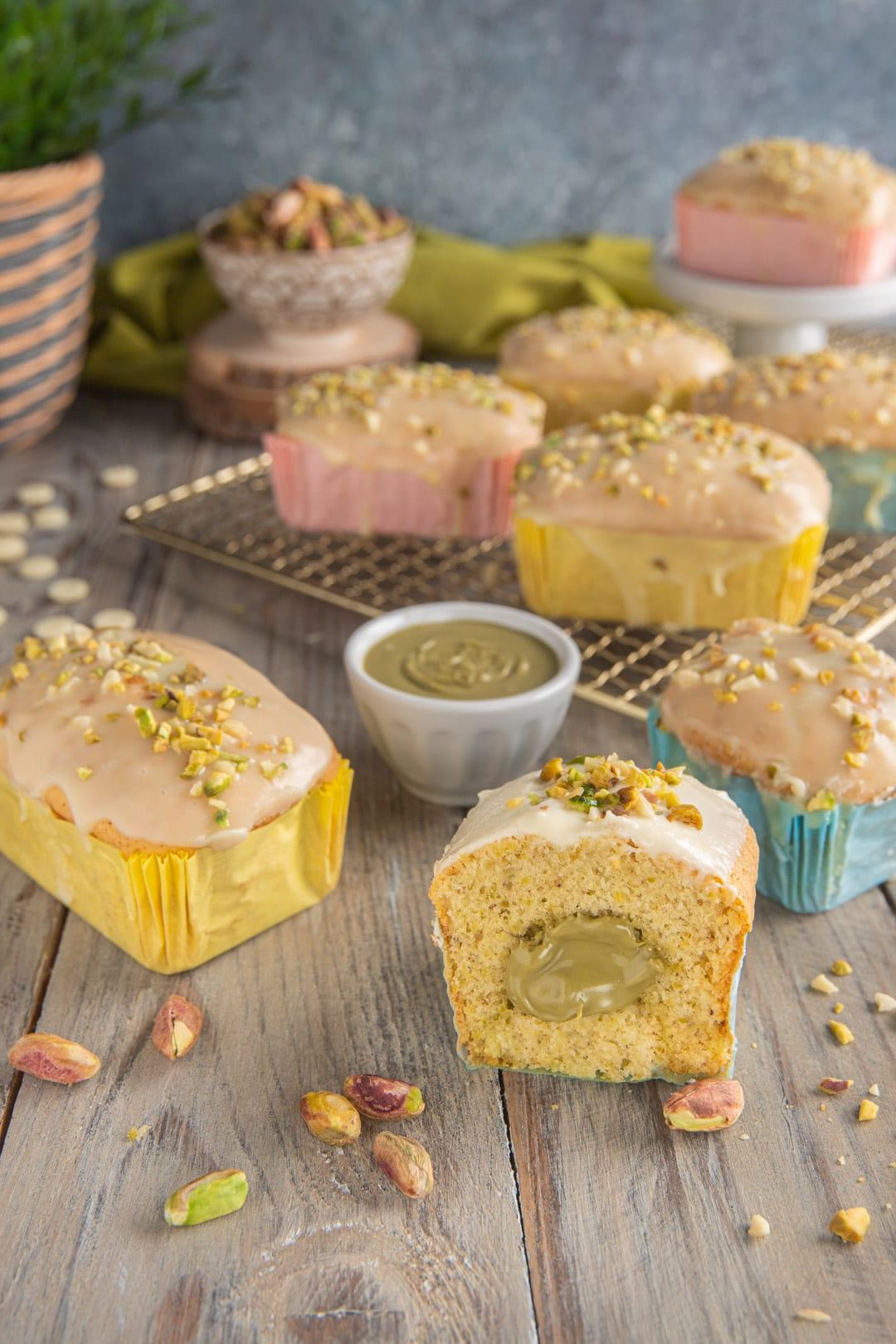 mini plumcake con pistacchio