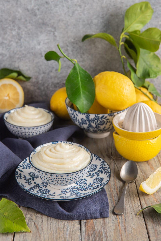 crema al limone senza uova in cocotte